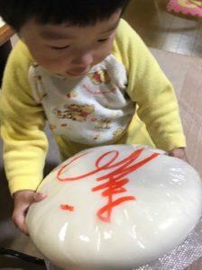 赤ちゃんと一升餅